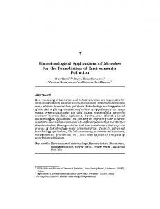 Biotechnological Applications of Microbes for the