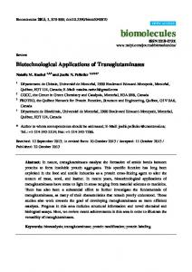 Biotechnological Applications of Transglutaminases - BioMedSearch