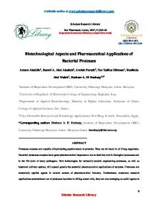 Biotechnological Aspects and Pharmaceutical Applications of