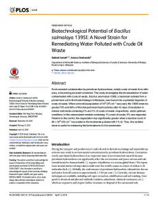 Biotechnological Potential of Bacillus salmalaya ... - Semantic Scholar