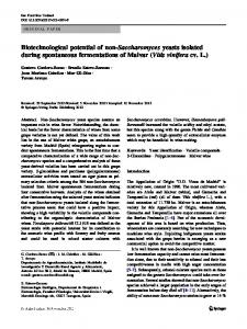 Biotechnological potential of non-Saccharomyces yeasts isolated ...