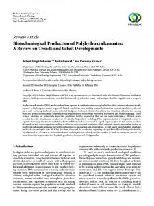 Biotechnological Production of Polyhydroxyalkanoates: A Review on ...