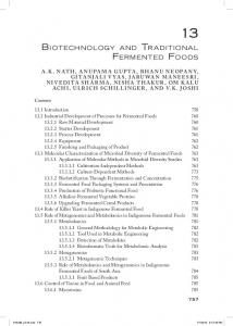 biotechnology and traditional fermented foods