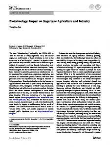 Biotechnology: Impact on Sugarcane Agriculture ...