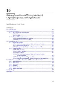Biotransformation and Biodegradation of ...