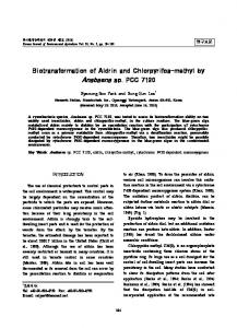 Biotransformation of Aldrin and Chlorpyrifos-methyl by Anabaena sp ...
