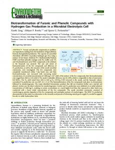 Biotransformation of Furanic and Phenolic ... - ACS Publications