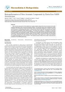 Biotransformation of Nitro Aromatic Compounds by Flavin-Free NADH ...