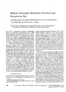 Biphasic Adrenergic Modulation of f8-Adrenergic Receptors in Man