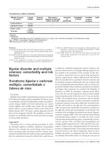 Bipolar disorder and multiple sclerosis - Semantic Scholar