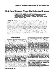 Birds have dinosaur wings: The molecular ... - Wiley Online Library