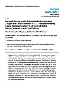Bis-Indole Derivatives for Polysaccharide Compositional Analysis and
