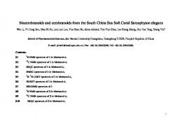 Biscembranoids and cembranoids from the South China Sea ... - MDPI