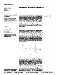 Bis(l-glutamic acid) sulfate hemihydrate - IUCr Journals
