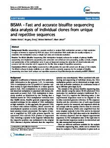 BISMA - Fast and accurate bisulfite sequencing data analysis of ...