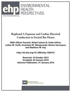 Bisphenol A Exposure and Cardiac Electrical Conduction in Excised ...