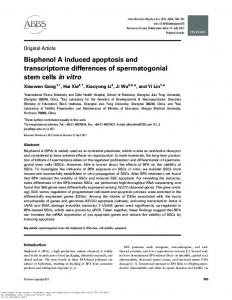 Bisphenol A induced apoptosis and transcriptome ...