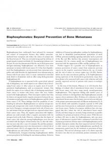 Bisphosphonates: Beyond Prevention of Bone ...