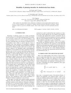 Bistability of pulsating intensities for double ... - APS Link Manager