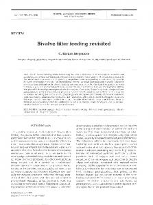 Bivalve filter feeding revisited - Inter Research