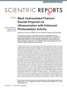 Black Hydroxylated Titanium Dioxide Prepared via ... - Semantic Scholar