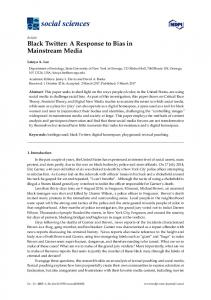 Black Twitter: A Response to Bias in Mainstream Media - MDPI