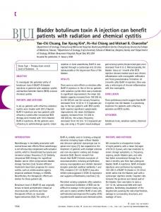 Bladder botulinum toxin A injection can benefit ... - Wiley Online Library