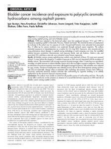 Bladder cancer incidence and exposure to polycyclic aromatic ...