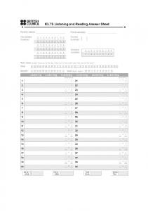 blank answer sheet - Take IELTS - British Council