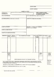 Blank Form of Commercial Invoice