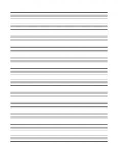Blank Sheet Music - musictheory.net