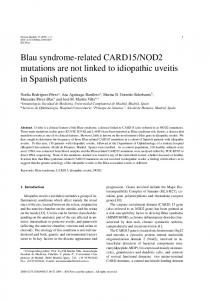 Blau syndrome-related CARD15/NOD2 mutations are not ... - IOS Press