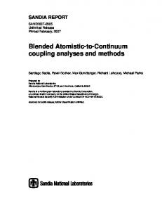 Blended Atomistic-to-Continuum coupling analyses and methods
