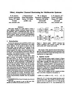 Blind, Adaptive Channel Shortening for Multicarrier Systems