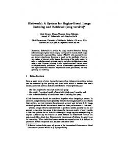 Blobworld: A System for Region-Based Image Indexing and Retrieval ...