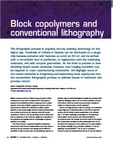 Block copolymers and conventional lithography