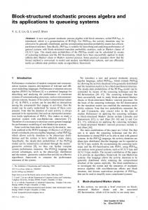 Block-structured stochastic process algebra and its