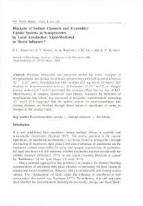 Blockade of Sodium Channels and Transmitter Uptake Systems in ...