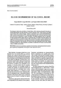 blood biomarkers of alcohol abuse - Semantic Scholar