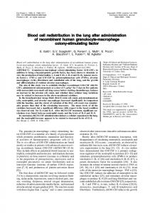 Blood cell redistribution in the lung after ... - Semantic Scholar