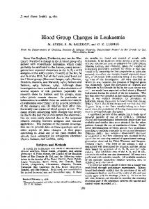 Blood Group Changes in Leukaemia - Europe PMC