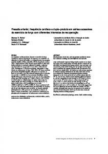 Blood pressure, heart rate, and rate-pressure product in successive ...