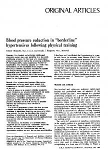 Blood pressure reduction in