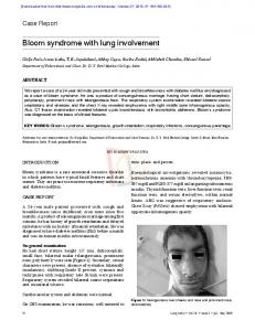 Bloom syndrome with lung involvement - medIND