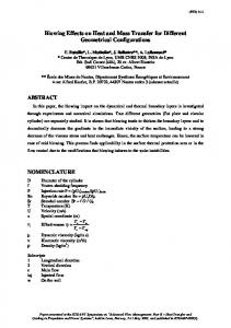 Blowing Effects on Heat and Mass Transfer for Different Geometrical ...