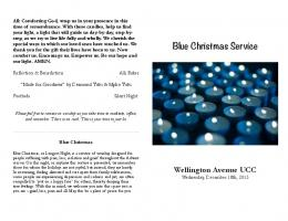 Blue Christmas bulletin