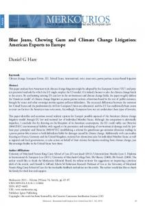 Blue Jeans, Chewing Gum and Climate Change Litigation: American ...