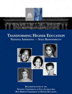 Blue Ribbon Commission on Higher Education - National ...