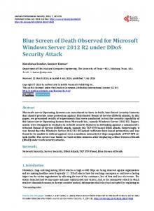 Blue Screen of Death Observed for Microsoft Windows Server 2012 ...