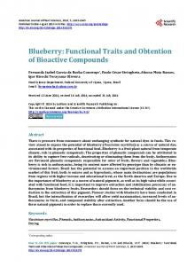 Blueberry - Scientific Research Publishing